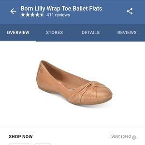 Nude BORN Macy's Lilly Leather Ballet Flats!